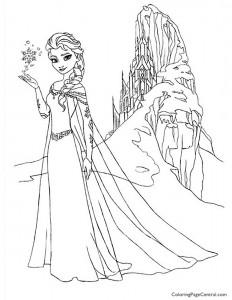 Frozen – Elsa 03 Coloring Page