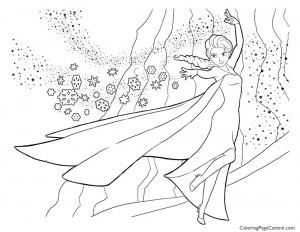 Frozen – Elsa 04 Coloring Page