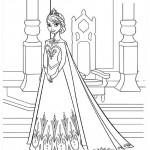 Frozen - Elsa 05 Coloring Page