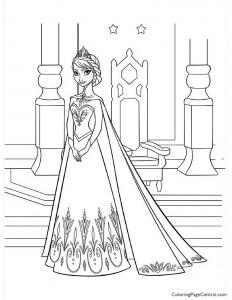 Frozen – Elsa 05 Coloring Page