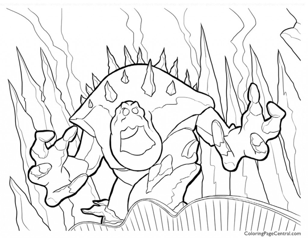 Frozen - Marshmallow 01 Coloring Page