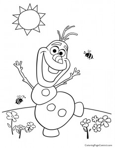 Frozen – Olaf 02 Coloring Page