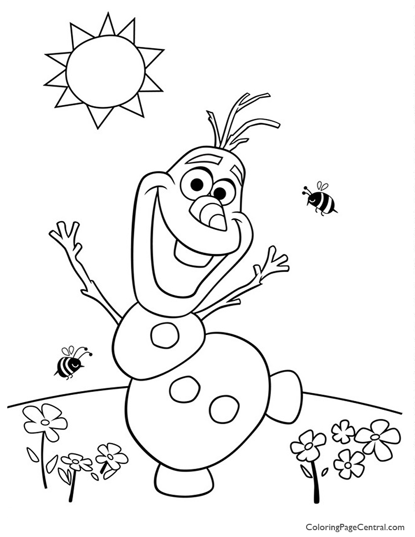 Frozen - Olaf 02 Coloring Page