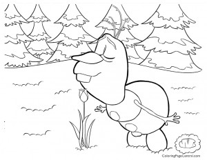 Frozen – Olaf 04 Coloring Page