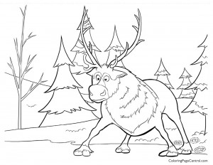 Frozen – Sven 01 Coloring Page