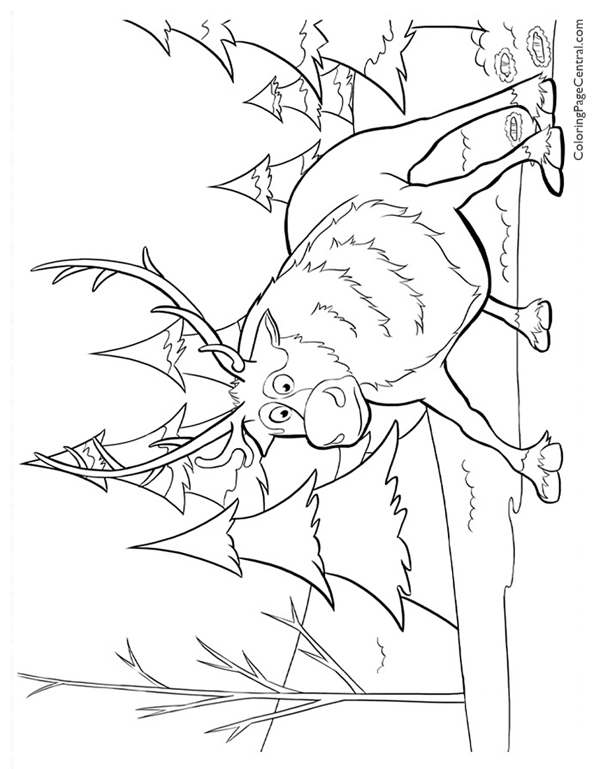 Frozen – Sven 01 Coloring Page | Coloring Page Central