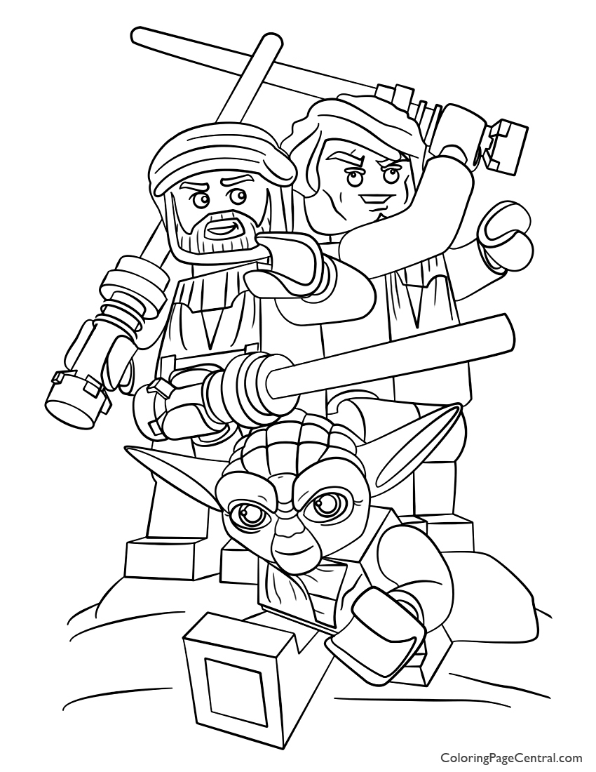 Lego star wars 01 coloring page coloring page central for Star wars lego coloring page