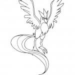 Pokemon - Articuno Coloring Page 01