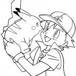 Pokemon - Ash Coloring Page 08