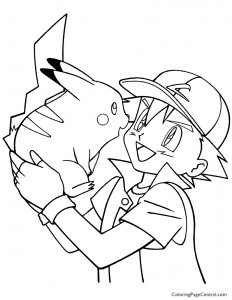 Pokemon – Ash Coloring Page 08