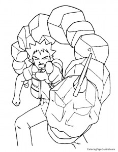 Pokemon – Brock Coloring Page 01