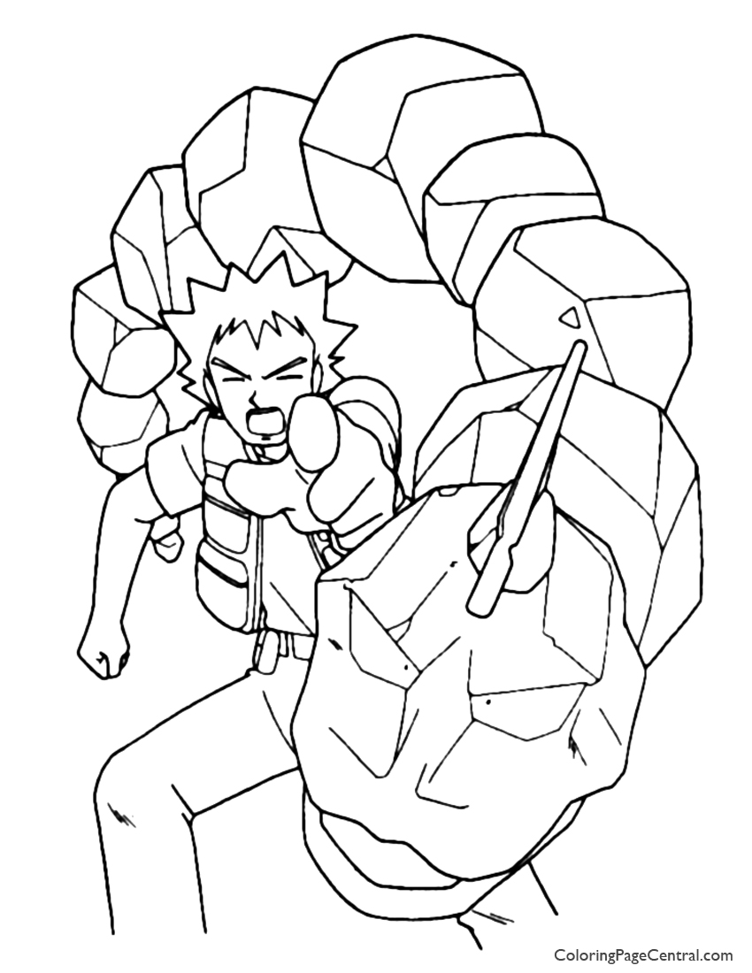 pokemon brock coloring page 01