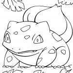 Pokemon - Bulbasaur Coloring Page 01