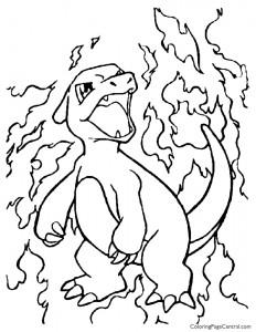 Pokemon – Charmeleon Coloring Page 01