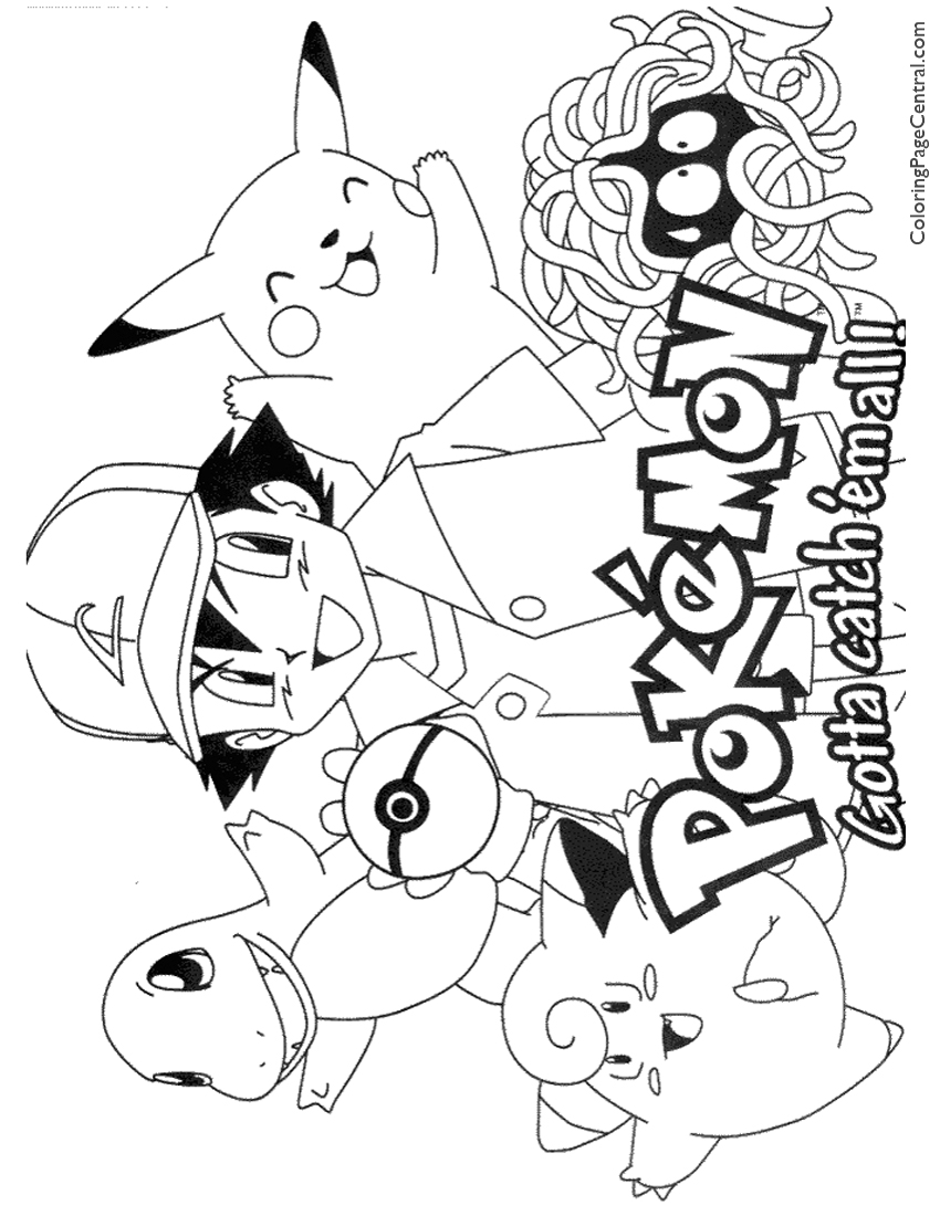 pokemon coloring page 01 coloring page central