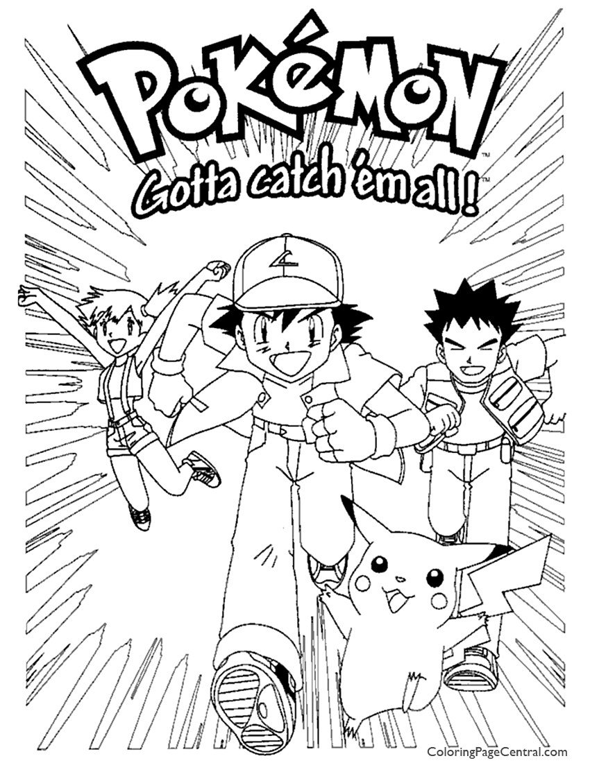 pokemon coloring page 04