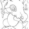 Pokemon - Cubone Coloring Page 01