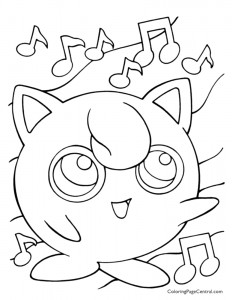 Pokemon – Jigglypuff Coloring Page 01