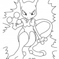 Pokemon - Mewtwo Coloring Page 01