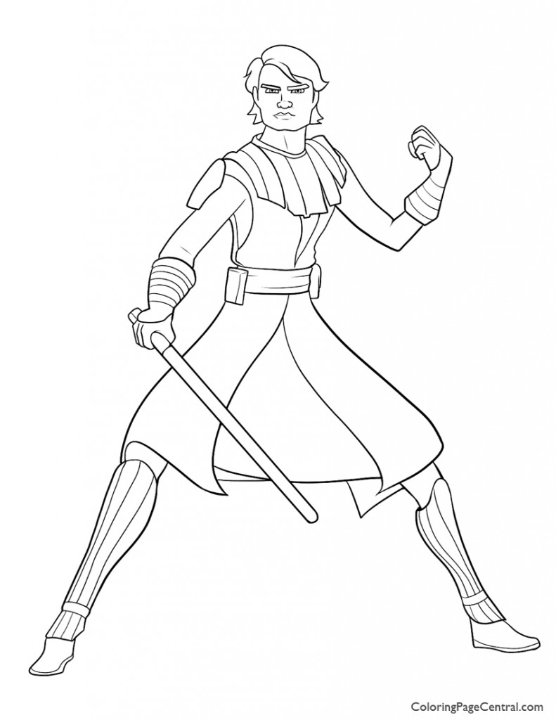 Star Wars - Anakin Skywalker 01Coloring Page
