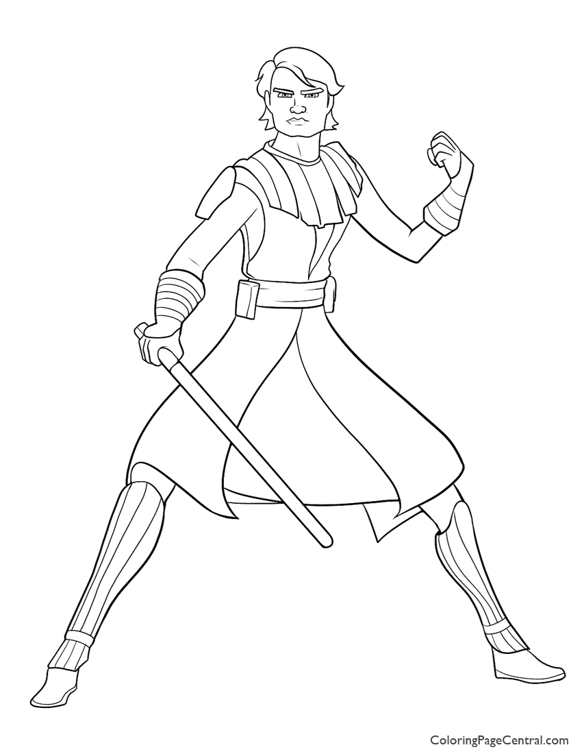 Star Wars A Is For Anakin Coloring Page