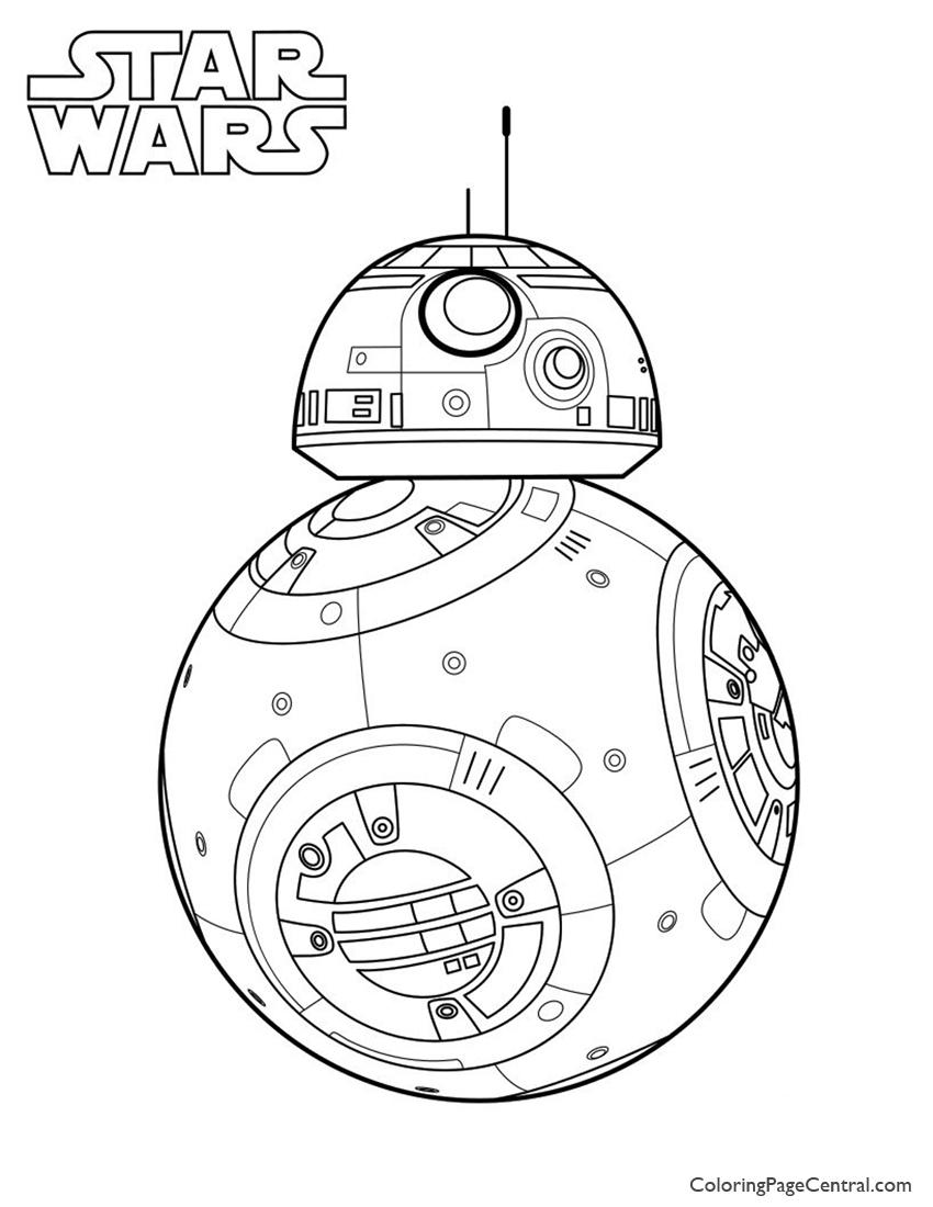 Star Wars BB 8 Coloring Page Coloring Page Central