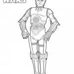 Star Wars - C-3PO Coloring Page