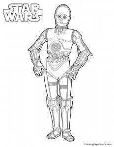 Star Wars – C-3PO Coloring Page