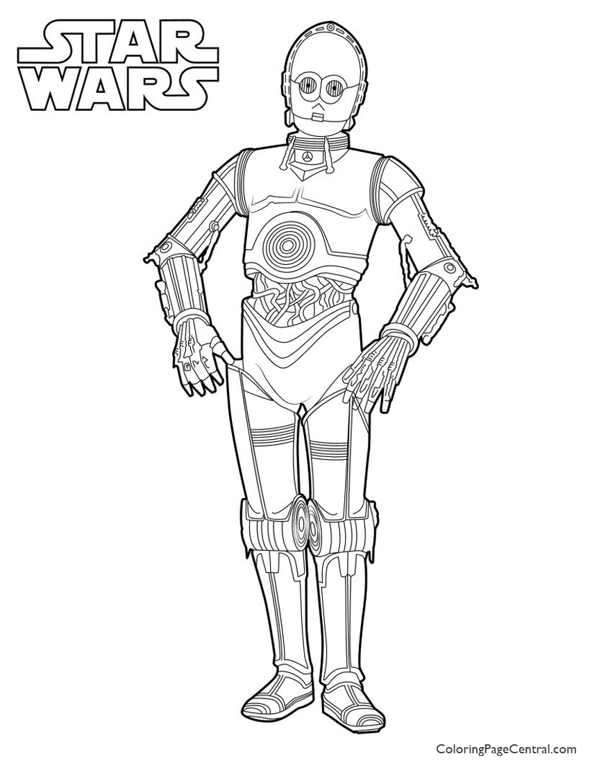 Star Wars C 3po Coloring Page Coloring Page Central