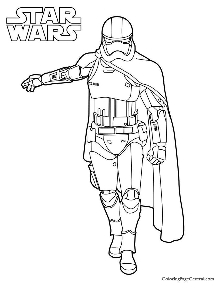 Star Wars Captain Phasma Coloring Page Coloring Page