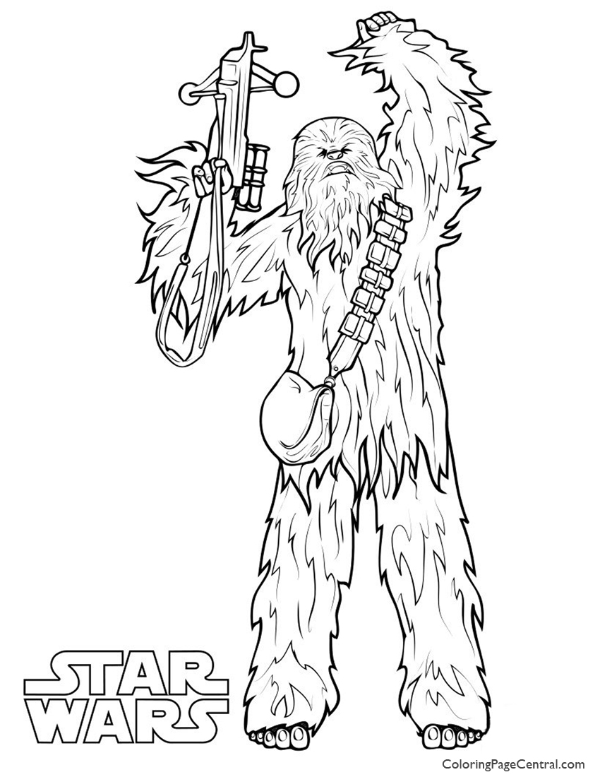 Star Wars Chewbacca Coloring Page Coloring Page Central