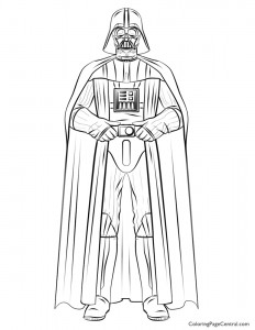 Star Wars – Darth Vader 01 Coloring Page