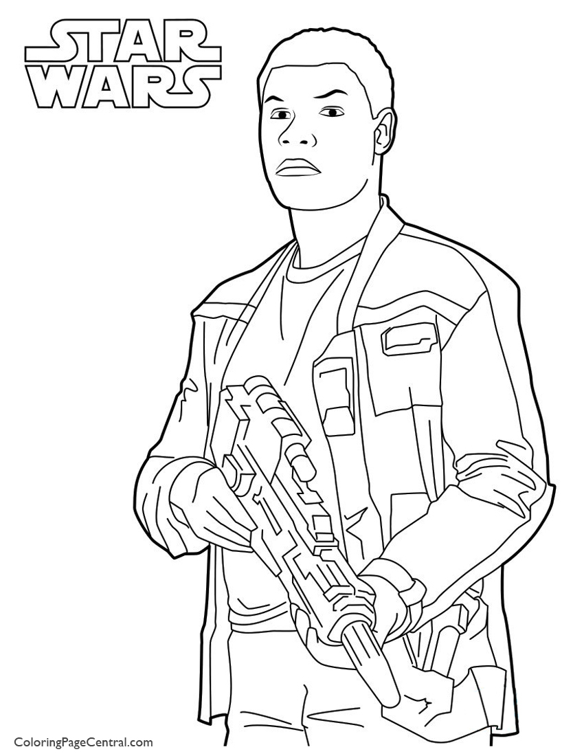 Star Wars - Finn 01Coloring Page