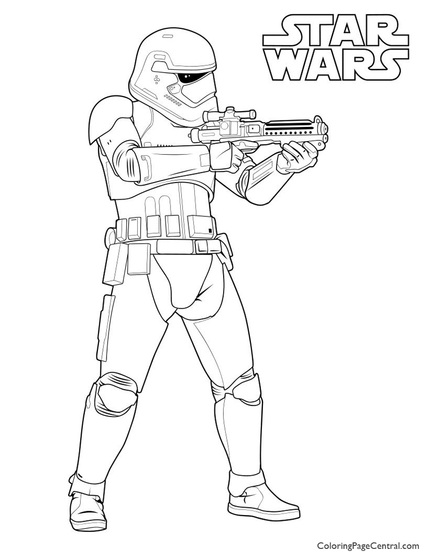 Great Star Wars   First Order Storm Trooper Coloring Page