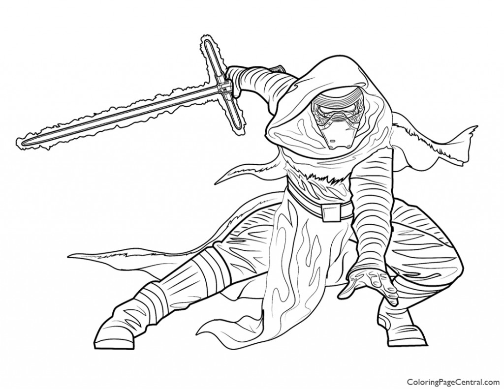 Star Wars - Kylo Ren Coloring Page