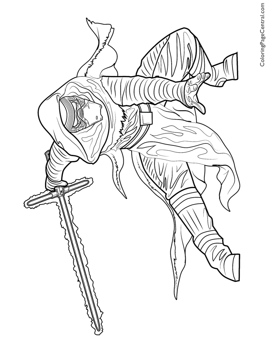 Star Wars Kylo Ren Coloring Page Coloring Page Central
