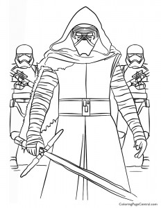 Star Wars – Kylo Ren and First Order Coloring Page