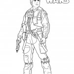 Star Wars - Poe Dameron Coloring Page