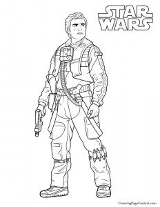 Star Wars – Poe Dameron Coloring Page