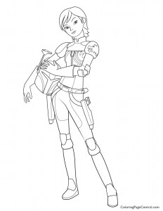 Star Wars – Sabine Wren Coloring Page