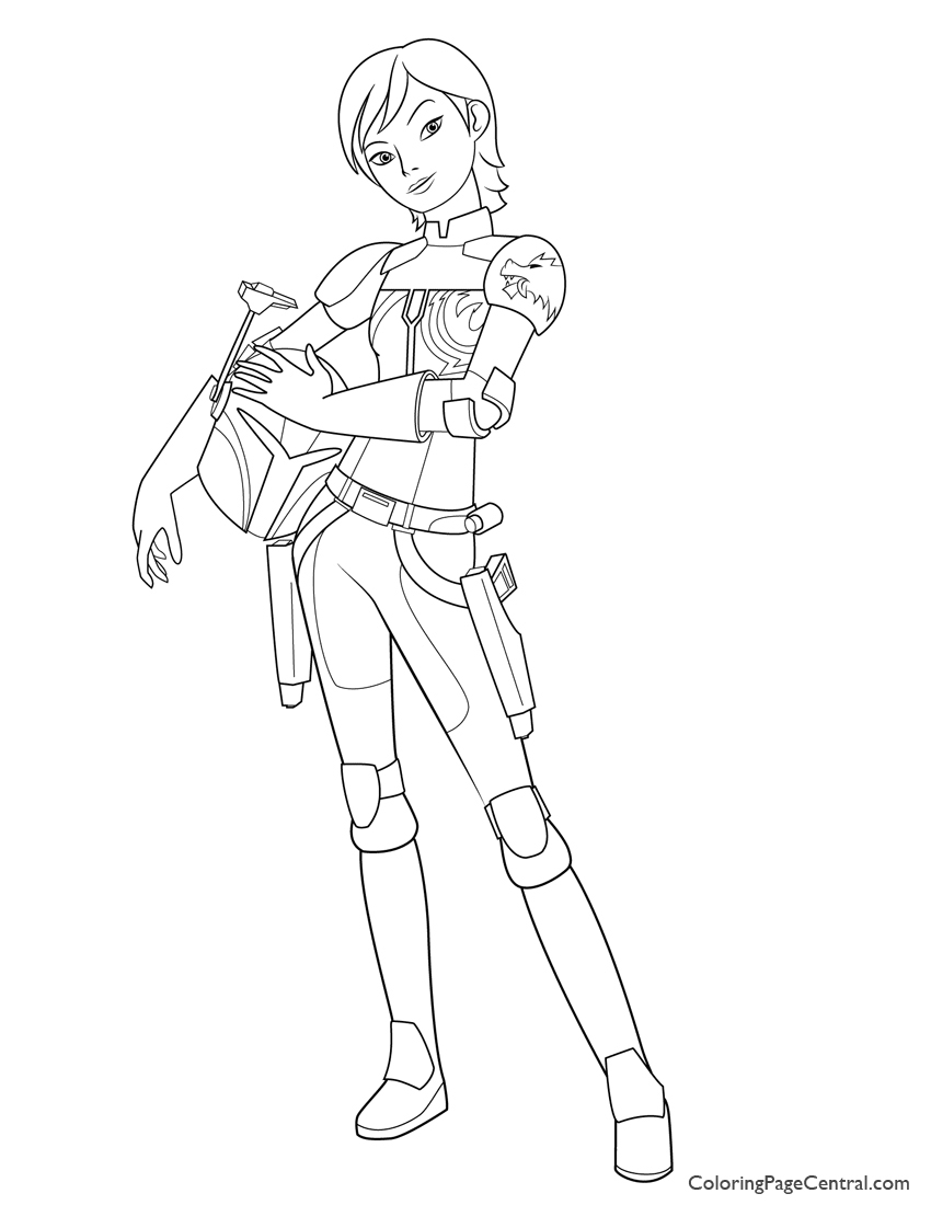 Star Wars - Sabine Wren Coloring Page