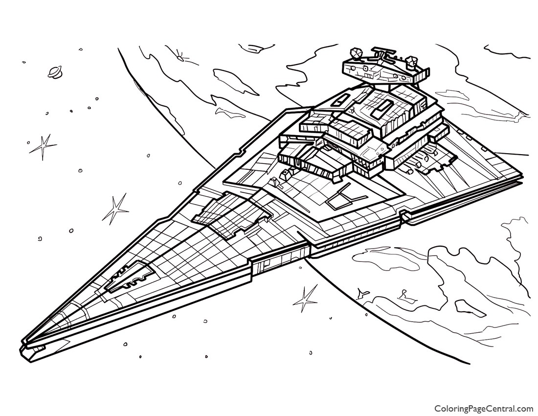 Star Wars - Star Destroyer Coloring Page