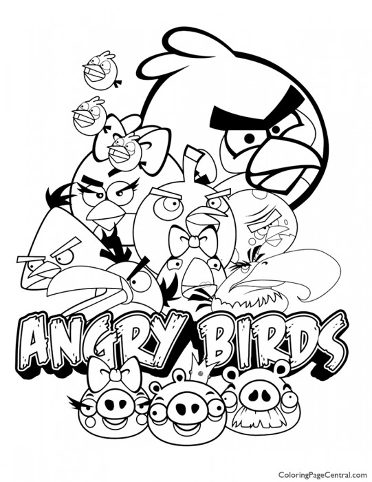 Angry Birds 02 Coloring Page