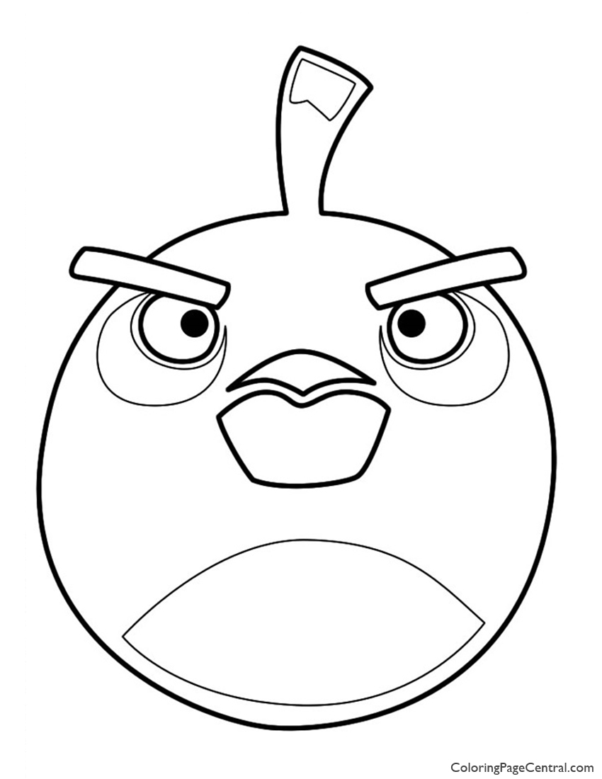Angry Birds - Bomb the Black Bird 01 Coloring Page