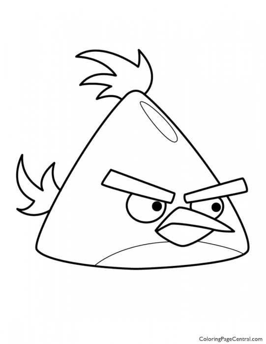 Angry Birds – Chuck the Yellow Bird 01 Coloring Page
