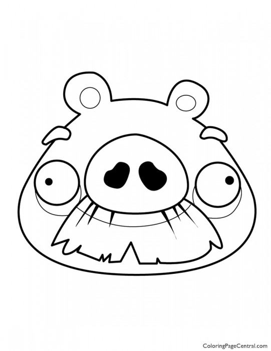 Angry Birds – Foreman Pig 01 Coloring Page