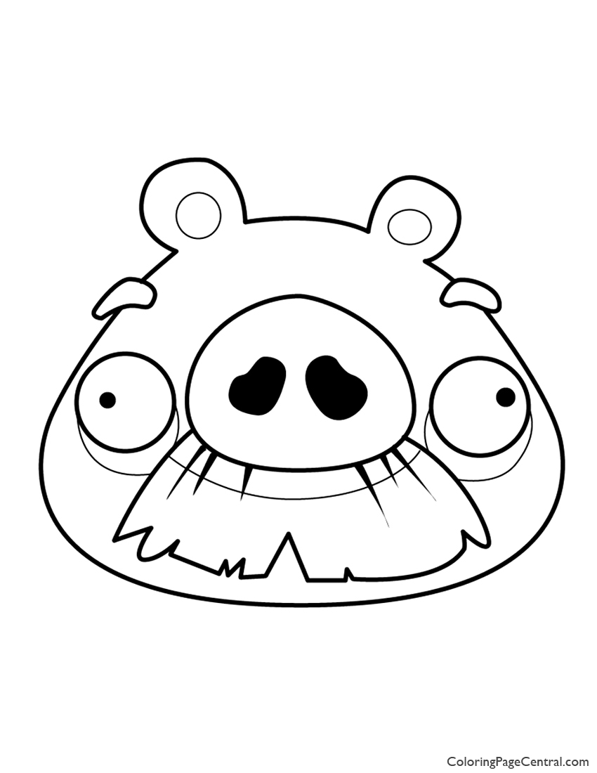 Angry Birds - Foreman Pig 01 Coloring Page