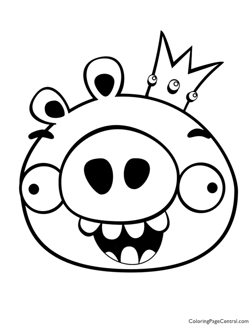 Angry Birds – King Pig 01 Coloring Page | Coloring Page Central