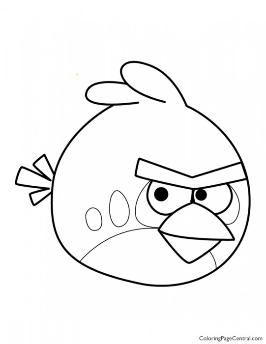 Angry Birds - Red 01 Coloring Page
