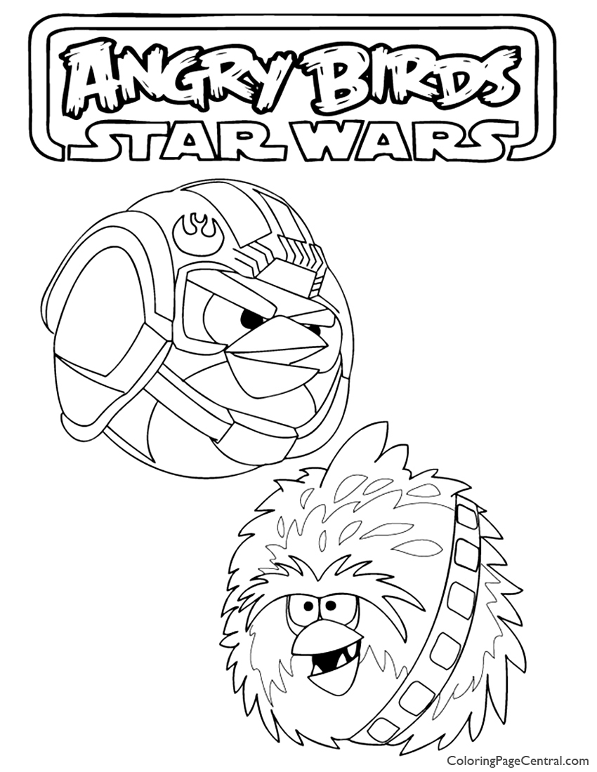 Angry Birds Star Wars 02 Coloring Page | Coloring Page Central